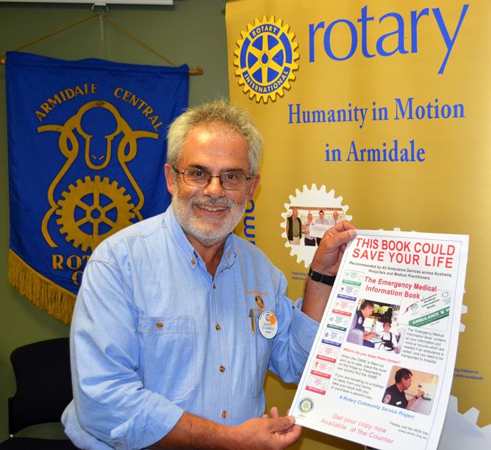Rotarian Gerry de Gabrielle at the EMIB launch